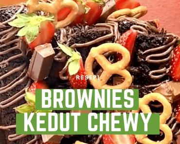 Brownies kedut lembut chewy